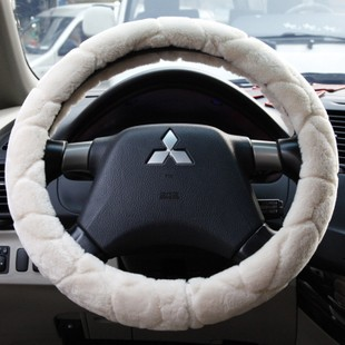 Plush car steering wheel cover winter short plush grips volkswagen sagitar cruze excelle fokker sloan plaza