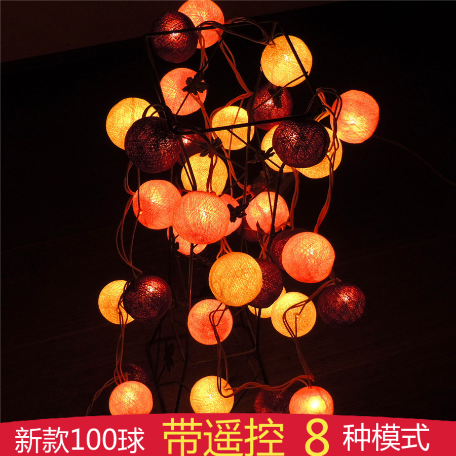 Poem maha thailand southeast asian style festive decoration ball string lights flashing string lights with led lights with color line ball
