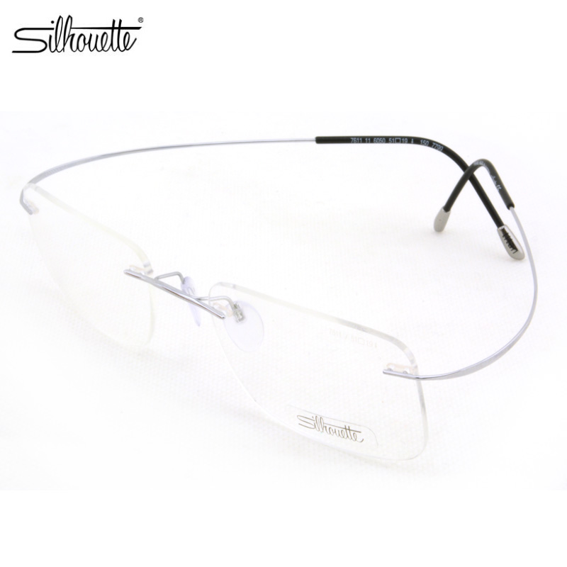 c7b7f2af31 Get Quotations · Poetry and music silhouette rimless titanium frames male  and female models of optical myopia frame glasses