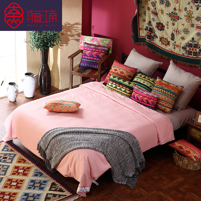 Poetry jiangnan silk cotton satin silk is 100 mulberry silk is the four seasons picture is silk spring is the core