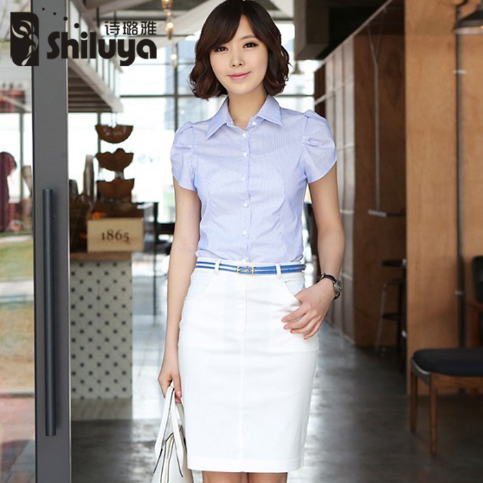 Poetry luya women wear skirt suits summer when shang shirt ladies wear overalls career suits career skirt