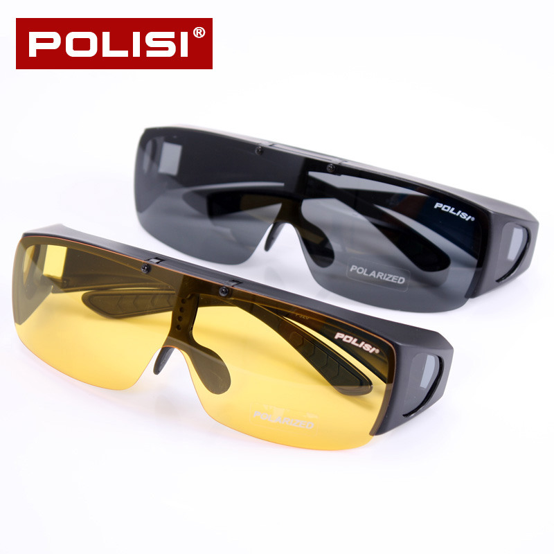 Polisi myopia sets of mirror sunglasses polarized sunglasses clip mirror driver night vision goggles myopia can be turned on