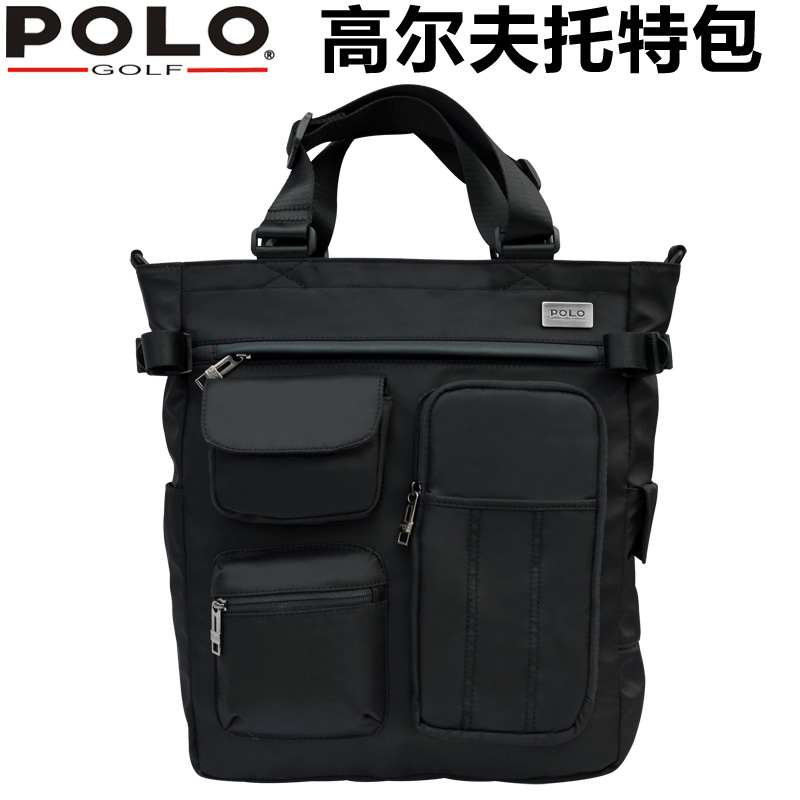 Polo golf clothes bag waterproof nylon shoulder bag men and casual shoulder bag tote bag messenger bag handbag