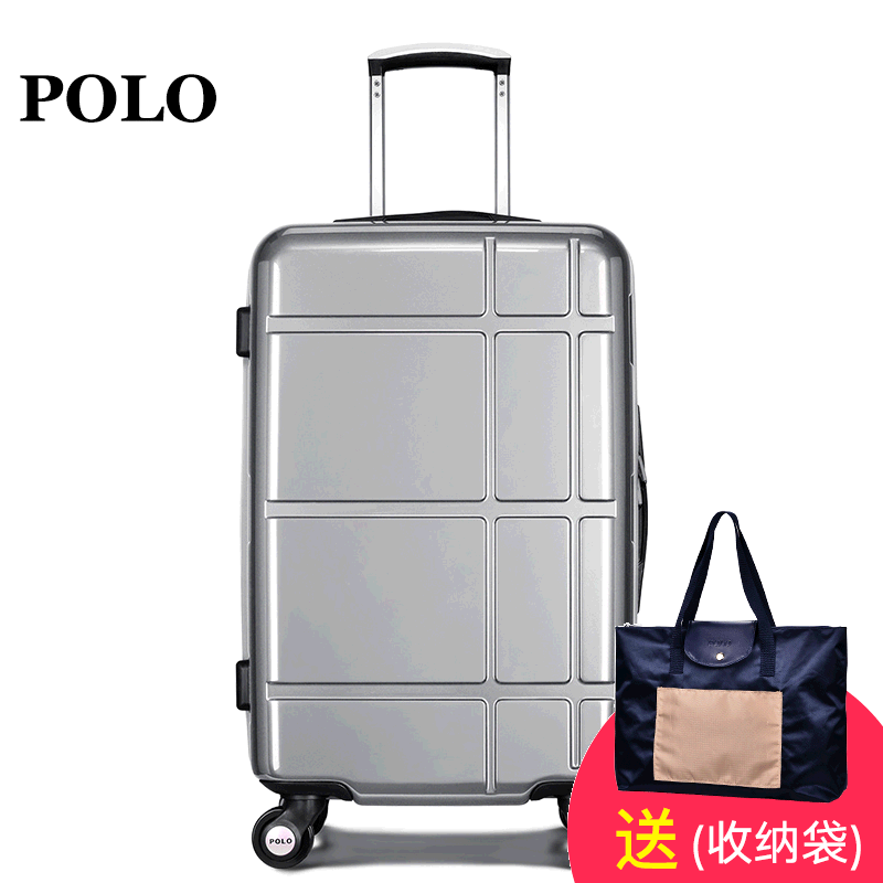 Polo trolley suitcase suitcases men and women zipper lockbox hard suitcase luggage pc caster boarding luggage
