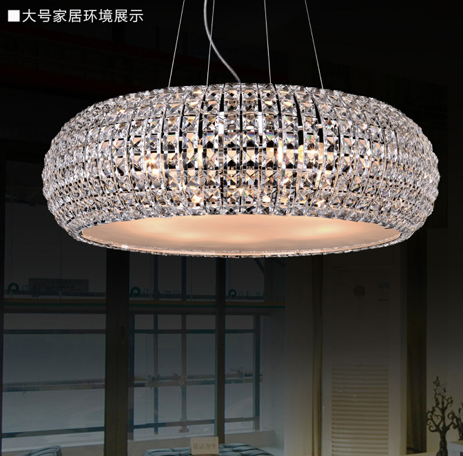 Poly yet simple and modern luxurious atmosphere crystal chandelier creative living room lamp bedroom lamp restaurant book room hall chandelier