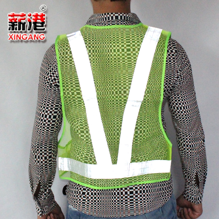 Port salary reflective safety clothing construction sanitation reflective vests vest t type mesh reflective vests reflective clothing