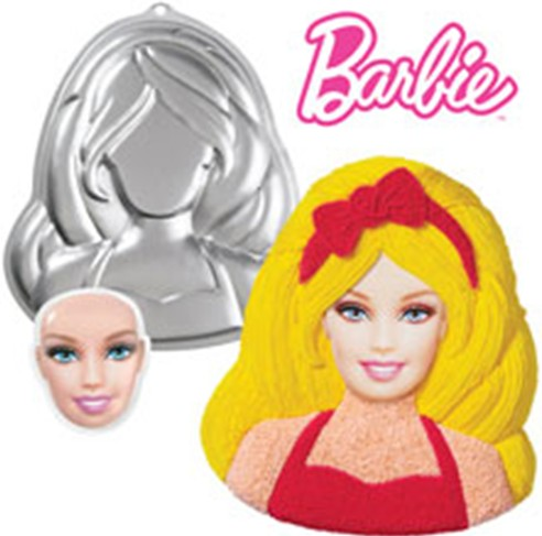 Positive new long hair girls barbie great shape creative cartoon birthday cake mold cake mold