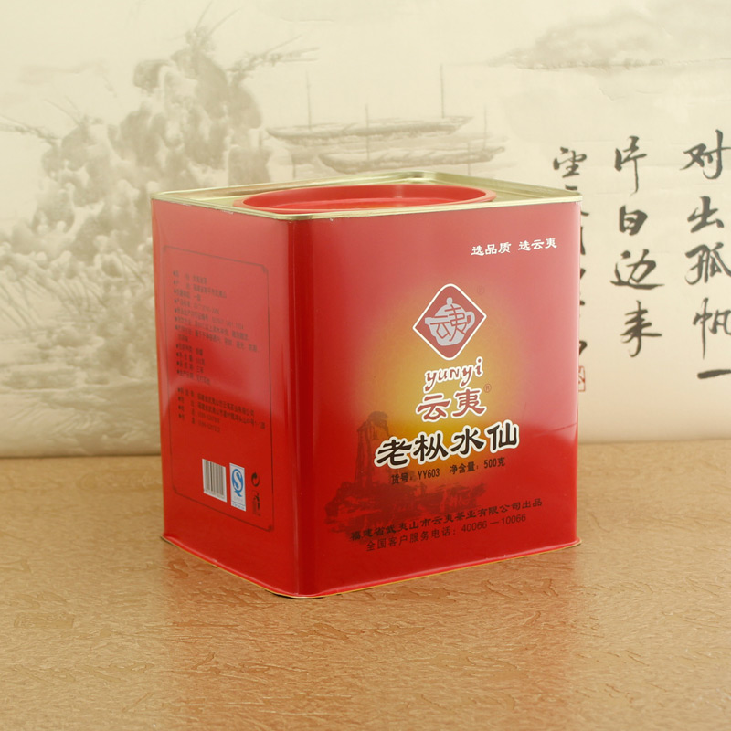 Positive rock old fir narcissus 500g large cans cloud razed authentic wuyi da hong pao wuyi mountain dahongpao narcissus
