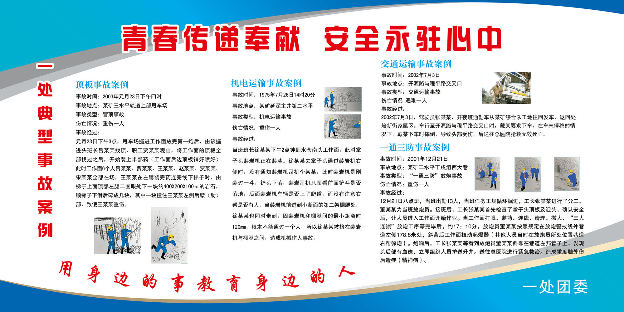 Poster printing poster printing 340 coal mine coal mine safety accident case billboards panels material 147 p