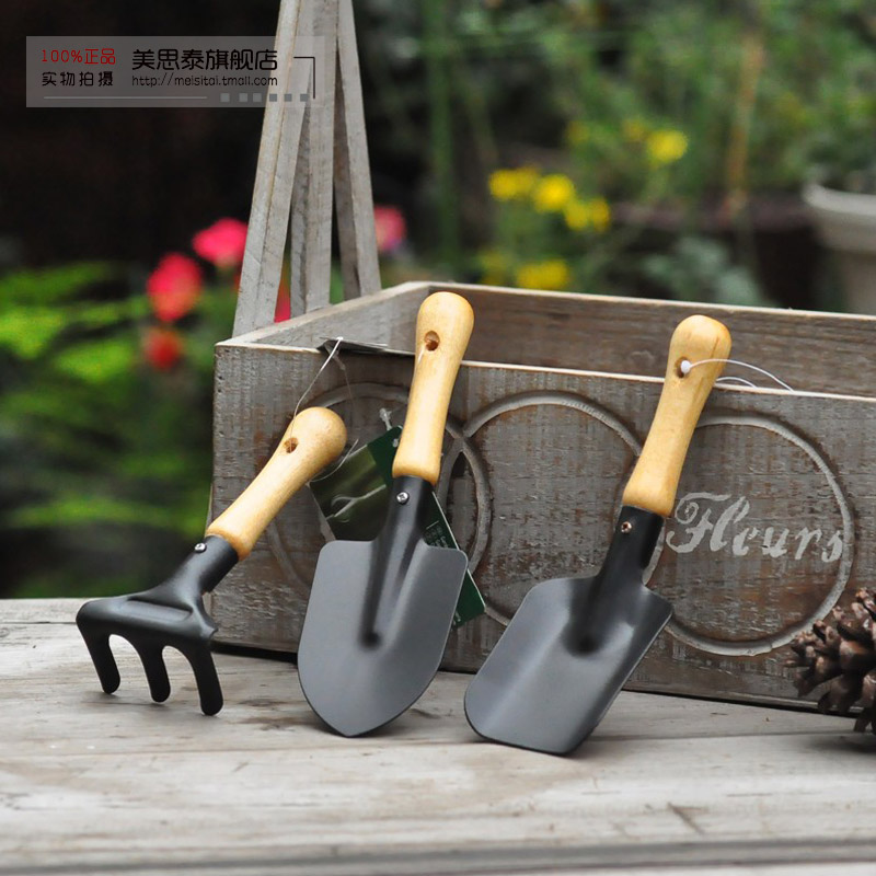 Potted flowers and vegetable gardening tools gardening rake flower flower flower shovel shovel japanese tool parure