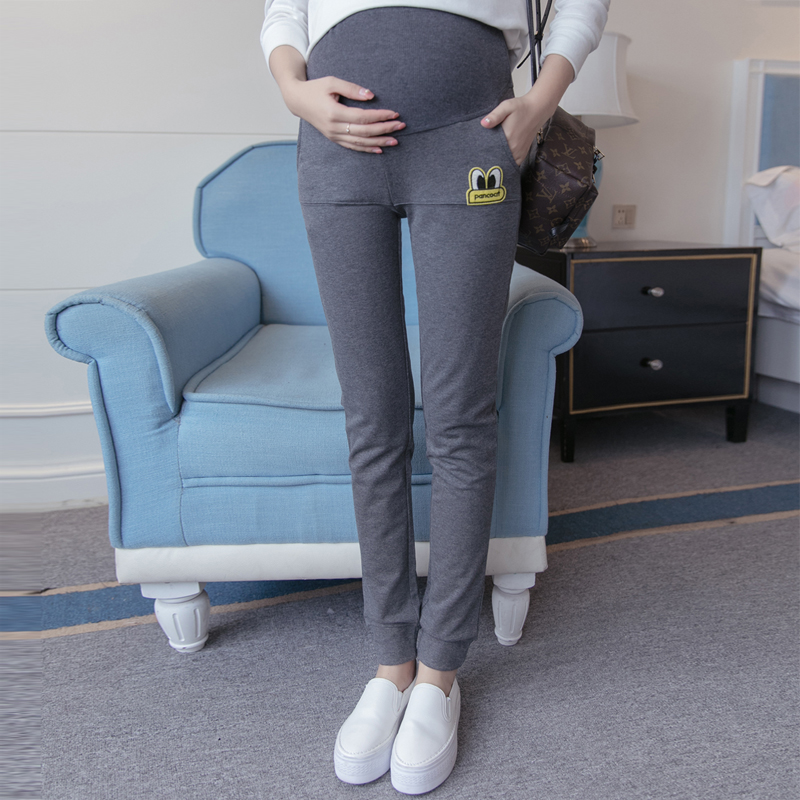 Pregnant women pants fall autumn outer wear trousers care of pregnant women pregnant belly pants loose big yards leisure pregnant women leggings pants In the autumn of