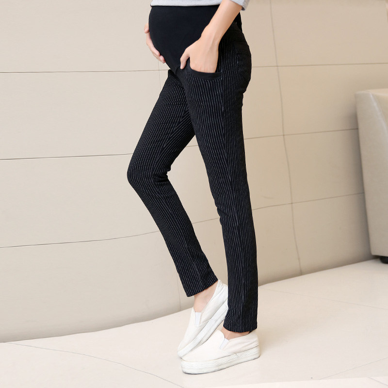 Pregnant women pants trousers spring and autumn leggings autumn autumn maternity pants care belly pants loose trousers were thin outer wear