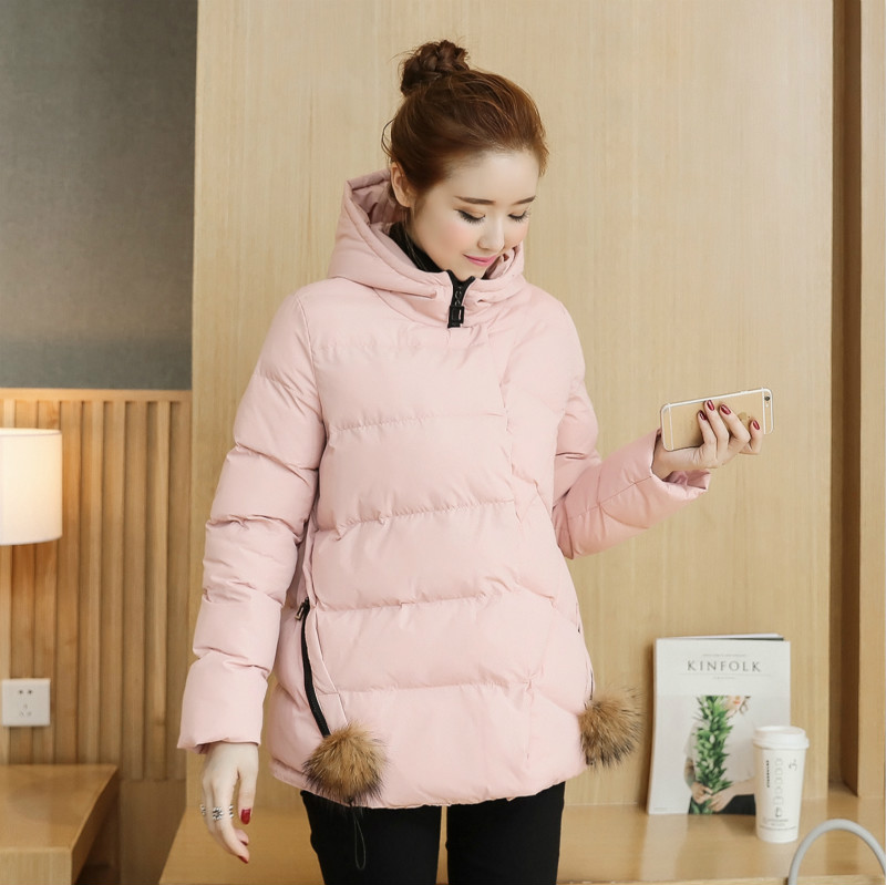 Pregnant women winter coat jacket korean version of the winter season thick padded hooded jacket and long sections of pregnant women pregnant women padded jacket women