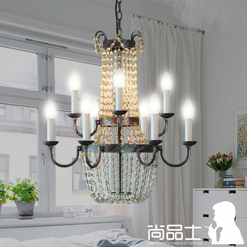 Premier disabilities designer vintage american country nordic ikea restaurant chandelier crystal chandelier creative living room continental