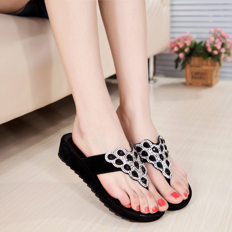 919980e03395f Get Quotations · Pretty girl in 2016 summer low heel sandals female flat  slippers women slippers sandals shoes summer