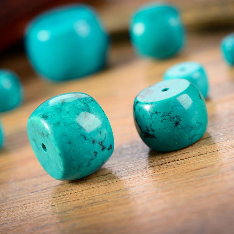 Price according to the body optimization turquoise blue beads waist drum beads loose beads spacer beads xingyue bodhi beads the size of king kong accessorise