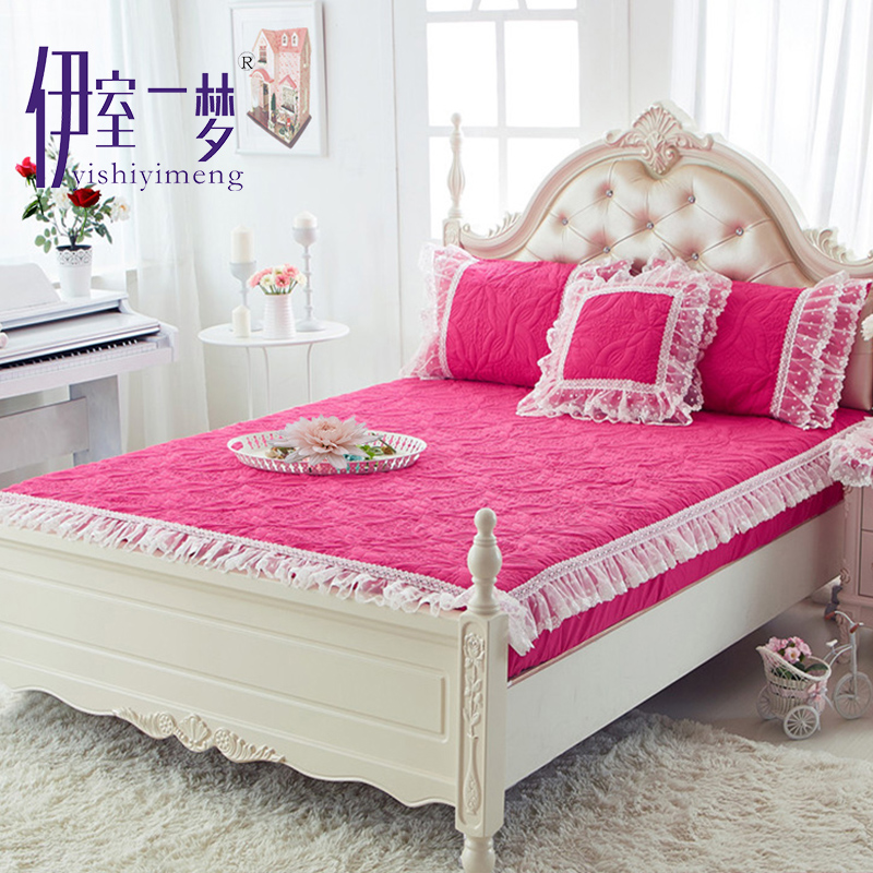 Princess lace thick quilted bed enterprises single bed sets bed li simmons mattress protector slip bedspread bed pad bedding