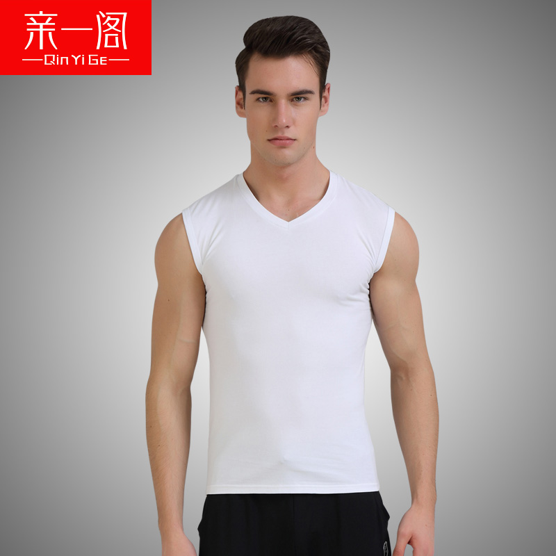 Pro a court cut sleeve vest shoulder width heart cotton sleeveless v-neck vest male summer sports and fitness autumn slim tide youth