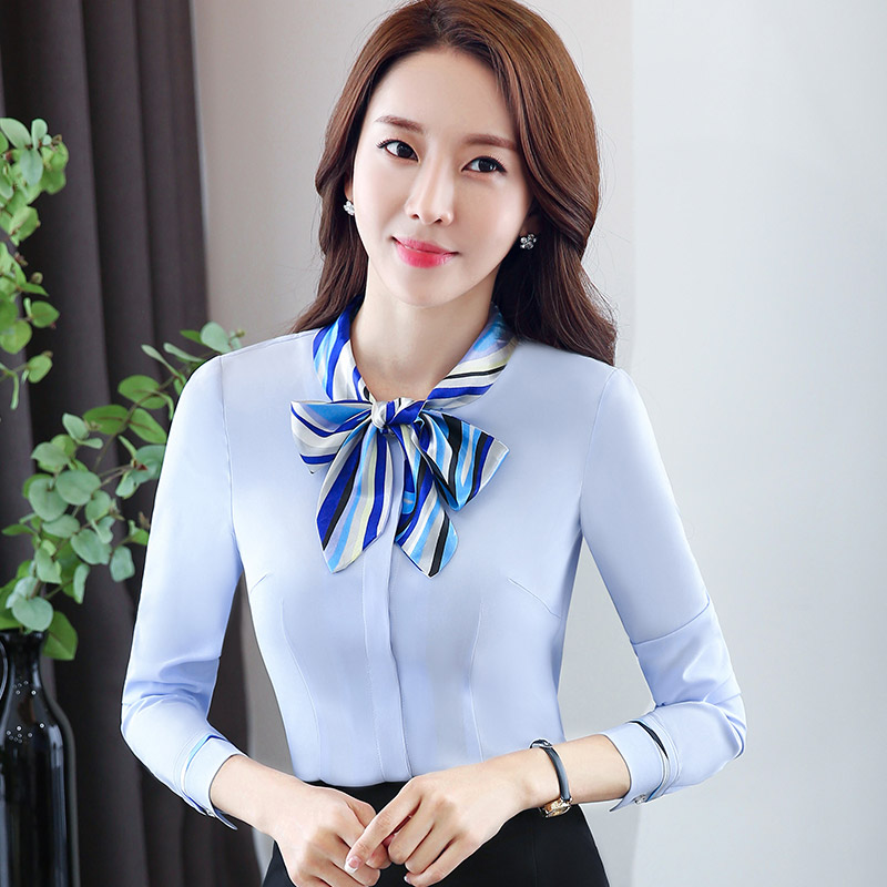 Professional white shirt female students sleeved overalls slim korean dress thin hundred ride shirt korean fan ol tooling