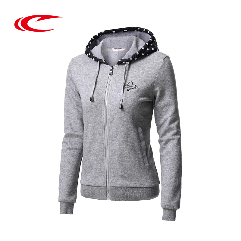 Psyche sports sweater female models 2016 autumn new solid and comfortable hooded sweater pullover 174610