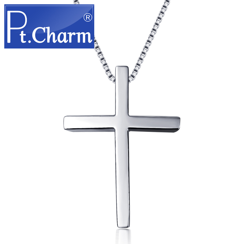 Pt. charm ms. male models pt950 platinum pendant cross pendant jewelry to send silver necklace