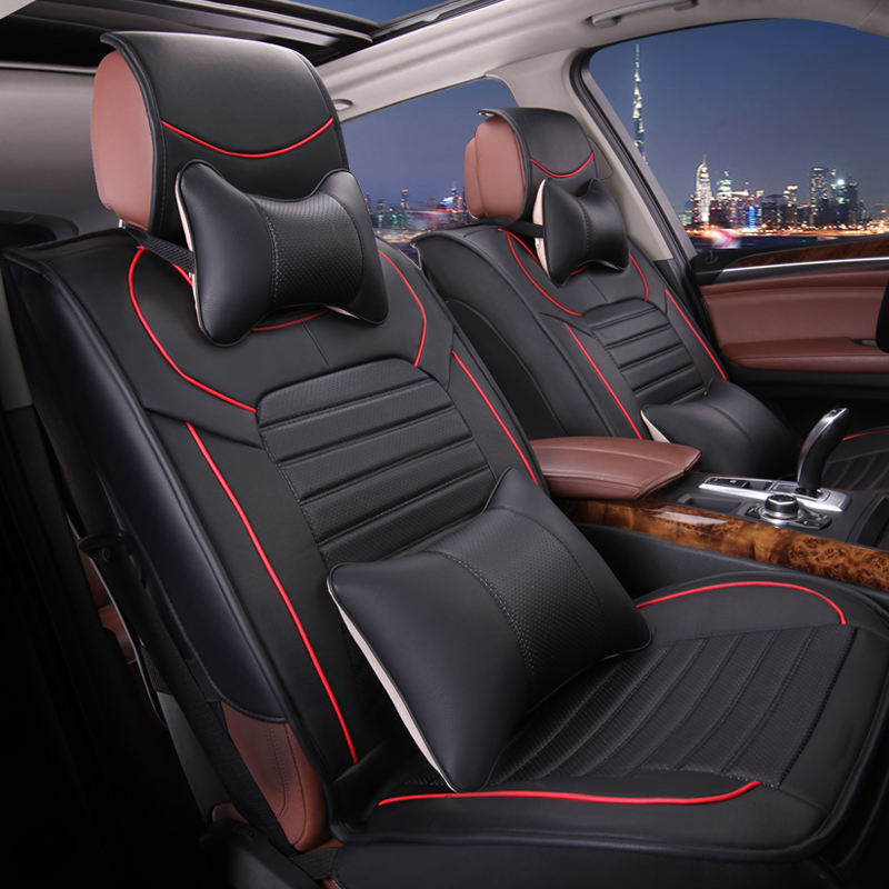 Pu leather pu leather car seat cushion four seasons general car seat cushion summer car mats whole package seat xrv ang kela baojun 560