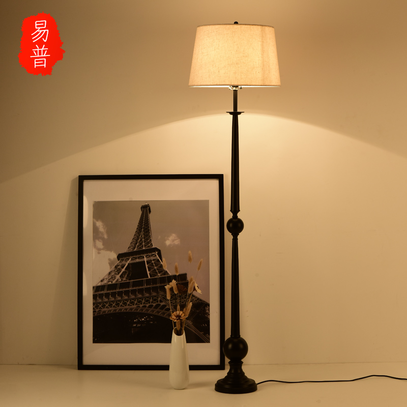 Pu yi new chinese modern bedroom den living room floor lamp wrought iron floor lamp floor lamp creative retro floor lamp floor lamp floor lamp