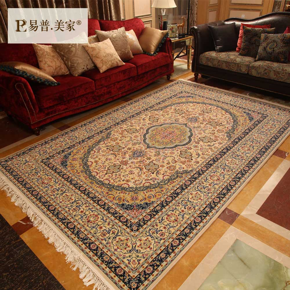 Pu yi us home imported handmade wool carpet living room european and american style villa bedroom bedside blanket