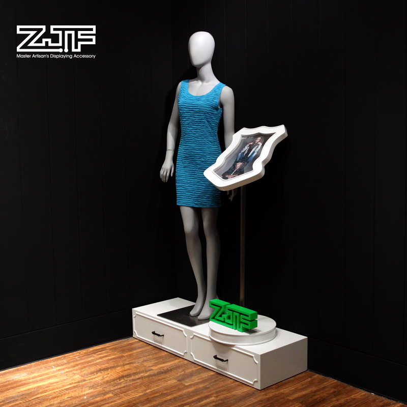 Public carpenter square zjf clothing dressmaking dummies platform base showcase showcase wooden display shelf display rack d5