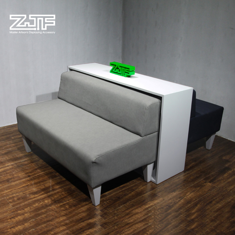 Public carpenter square zjf long double leather shoe pair of shoes stool changing his shoes clothing store sofa leisure sofa group in order
