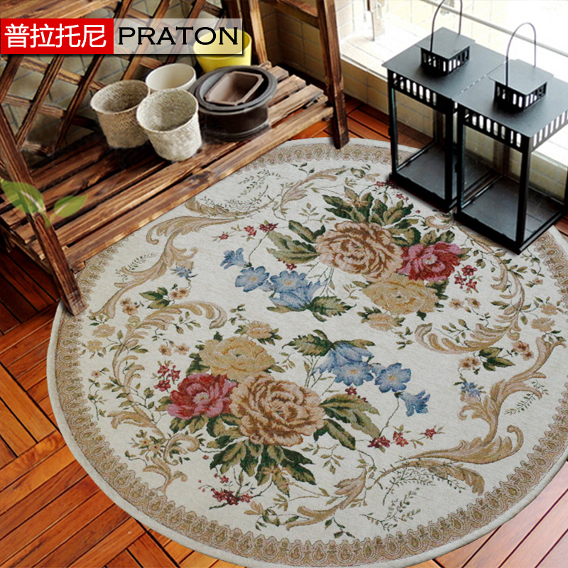 Pula tony hot high quality chenille contadino euclidian japanese and korean style rug round rug can be machine washable