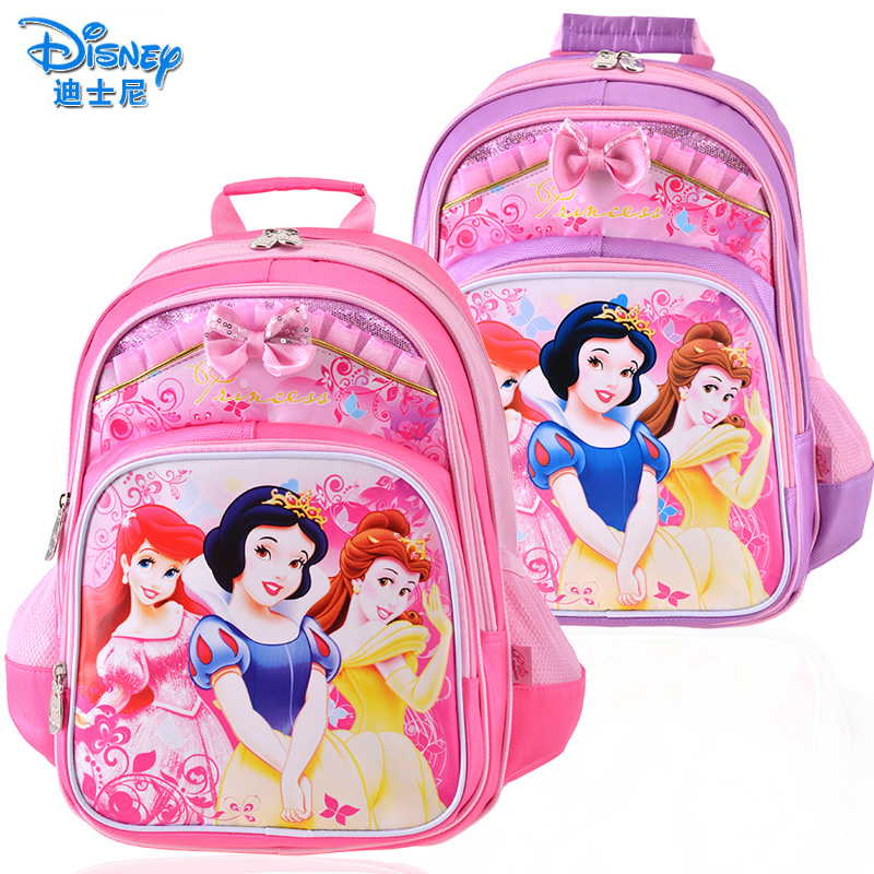 13bf199ba22 Get Quotations · Pupils disney cartoon snow white children s school bags  for girls grades backpack shoulder bag light