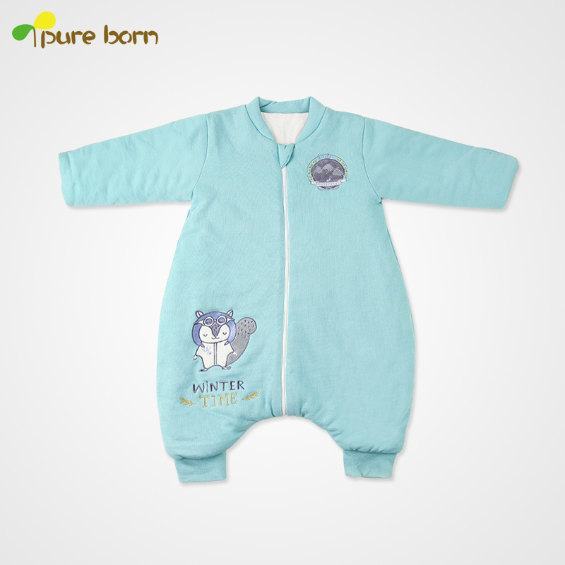 Pureborn cotton baby sleeping baby sleeping bag straddle anti tipi dongkuan baby sleeping bags baby sleeping child anti tipi