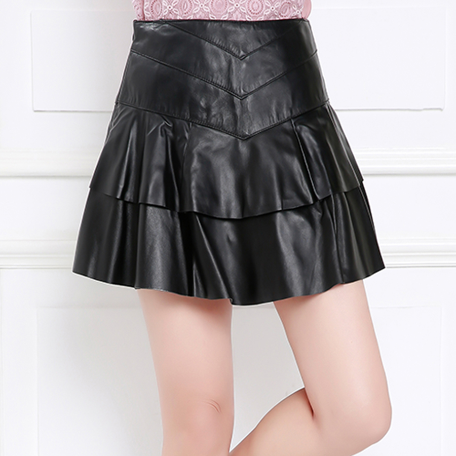 Purple舞弄skipperling leather skirt skirt new