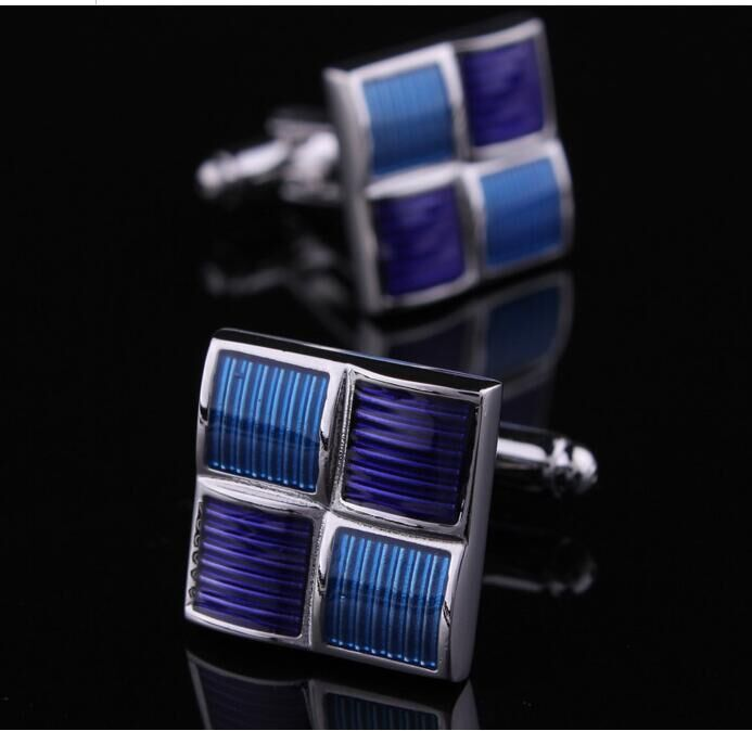 Purple square cufflinks for men cufflinks cufflinks men's french cuff shirt cufflinks cufflinks cufflinks cuff buckle clasp buckle mouth
