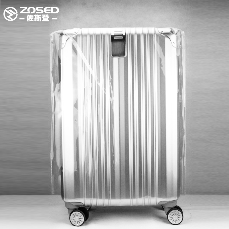 Pvc transparent waterproof wearable luggage sets luggage suitcase protective cover 20 24 28 trolley suitcase thick dust