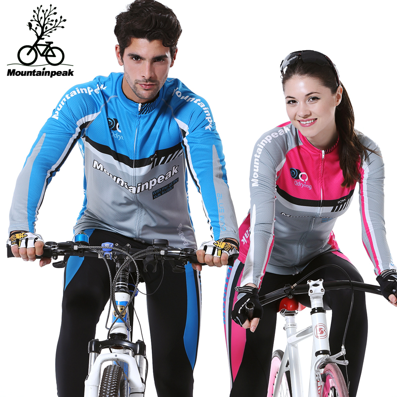 Qashqai mtp jersey long sleeve suit trousers mountain bike equipment bike riding clothes for men and women couples suite