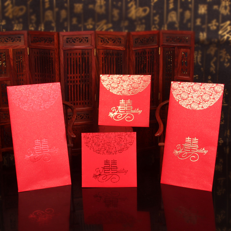 Qi only wedding celebration supplies creative upscale wedding red packets red envelopes 2015 thousand yuan hundred yuan red envelopes size