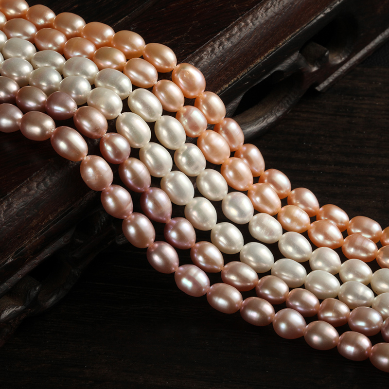 Qi semifinished string bracelet beads loose beads diy handmade jewelry pearl necklace with pieces of material