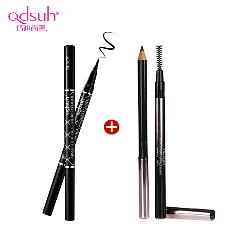 Qiao di shanghui fashion piece hyun black eyeliner makeup soft eyebrow pencil waterproof is not blooming genuine