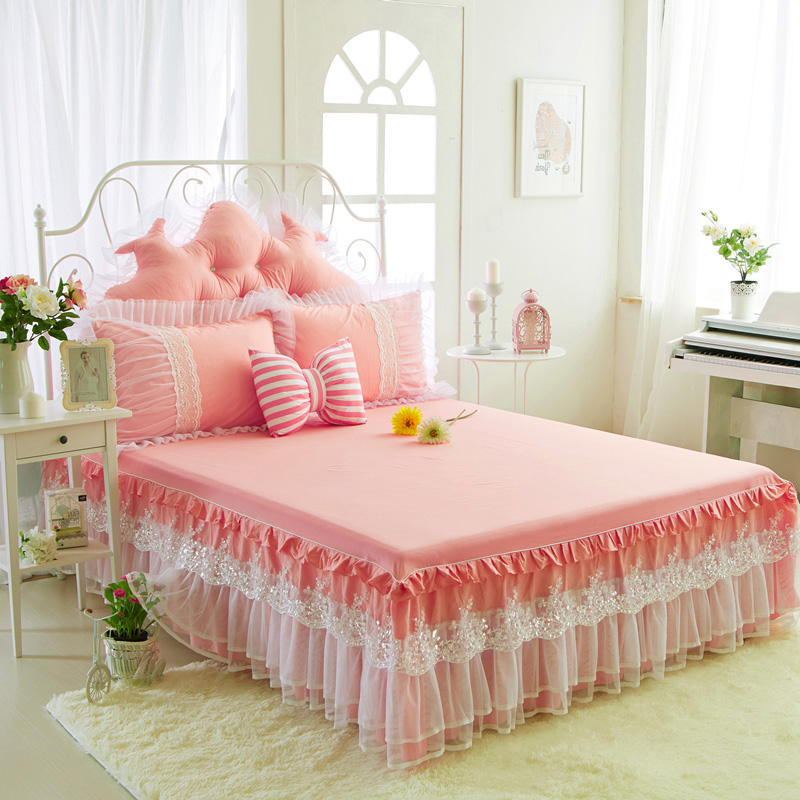 Qiao yi high cotton lace korean version of the twin 2 m bed sets cotton bed linen bedspreads bed skirts bed 1.5m1.8