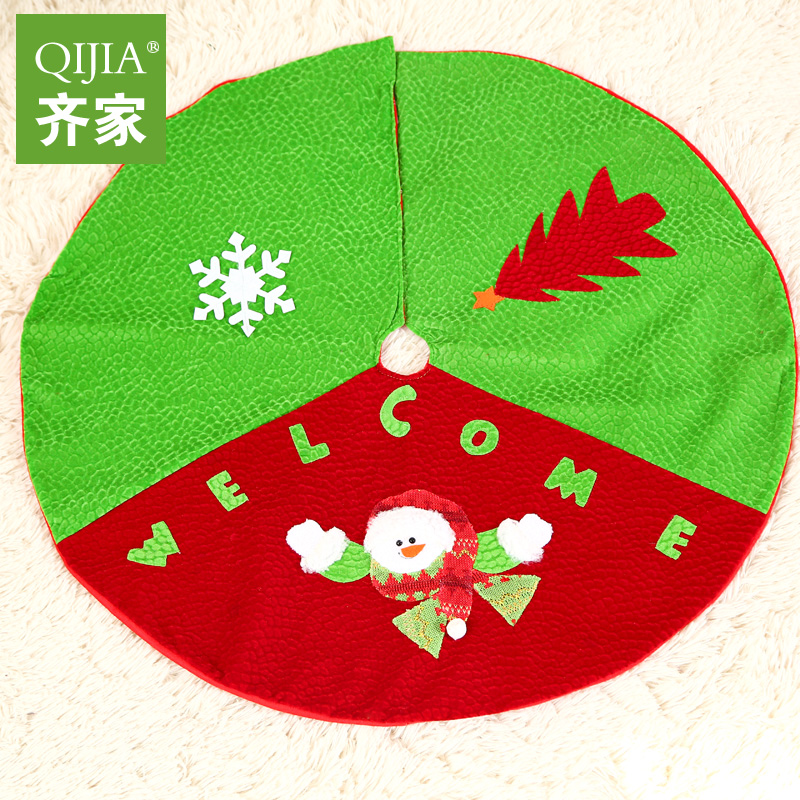 Qijia 70cm christmas decorations christmas tree skirt christmas tree skirt christmas aprons supplies