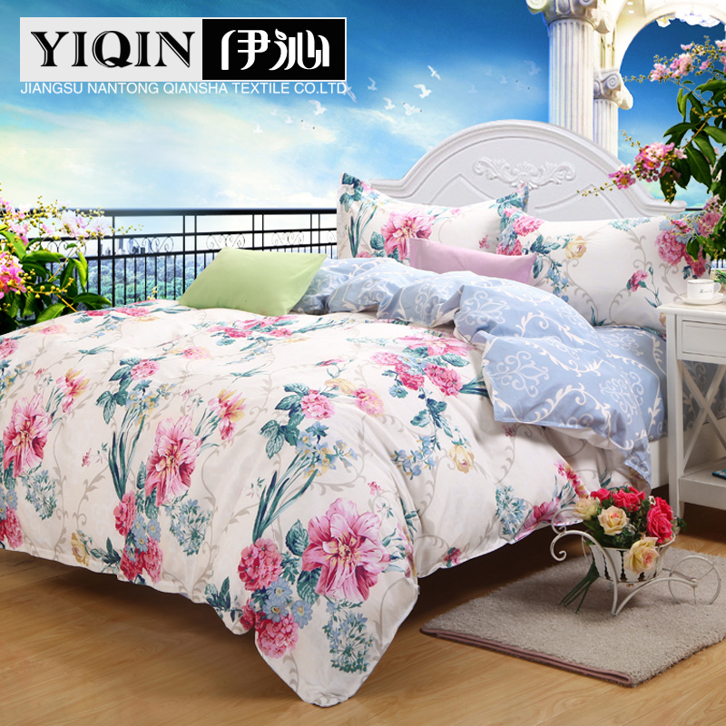 Qin yi [] fall and winter bedding cotton denim wedding suite cotton twill linen quilt 1.51.8m bed supplies