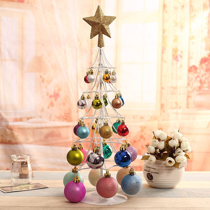 get quotations qixuan christmas decorations christmas balls hanging wrought iron christmas tree shopping malls hotel window christmas ornaments - Outdoor Christmas Balls