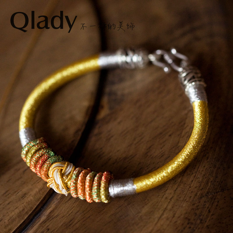 Qlady female models retro national wind jewelry handmade jewelry lovers bracelet colorful flowers