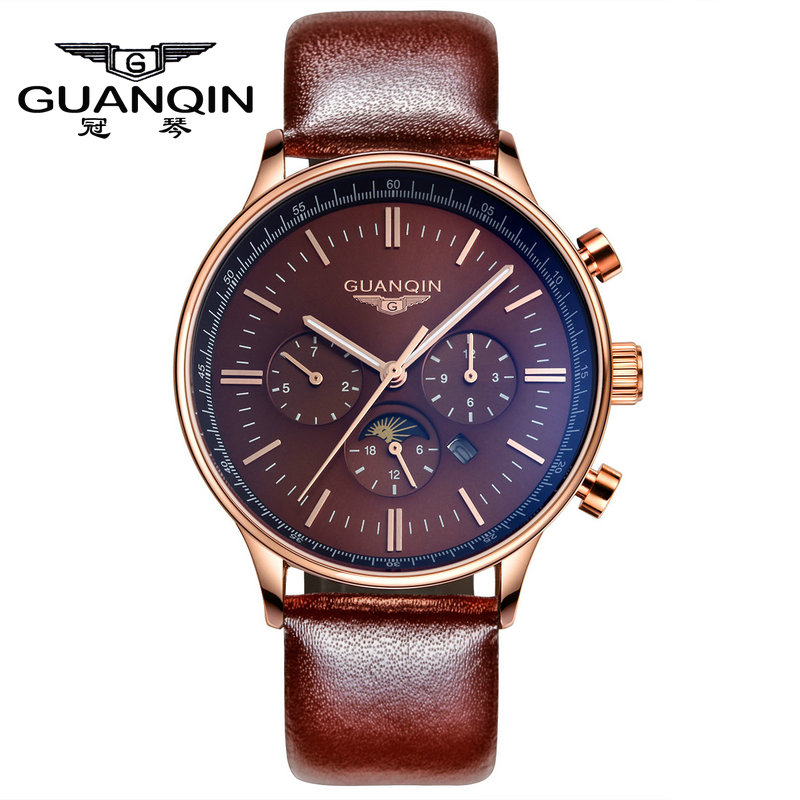 Quartz watches for men quartz watch crown piano authentic multi function light sports watch fashion belt male table movement