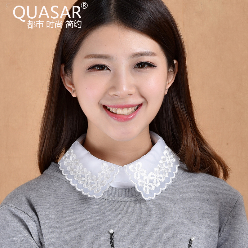 Quasar wild fake collar blouse fake fake fake collar shirt spring and winter white embroidered lace collar fake collar