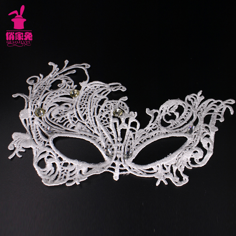 Rabbits pretty new little girl children's halloween mask metric main skirt girls dress accessories jewelry lace mask