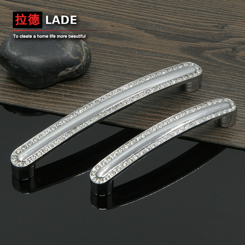 Radmanovic euclidian crystal modern minimalist surface mounted door handle cabinet drawer wardrobe door handles furniture hardware