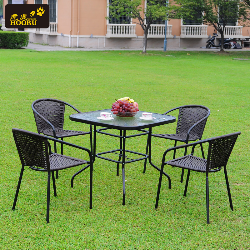 Rattan chair and coffee table three five tigers deer piece outdoor balcony casual rattan chairs and coffee tables and chairs combination of outdoor furniture